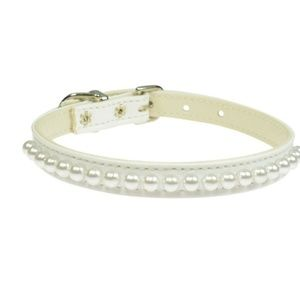 10 in pearl pet collar
